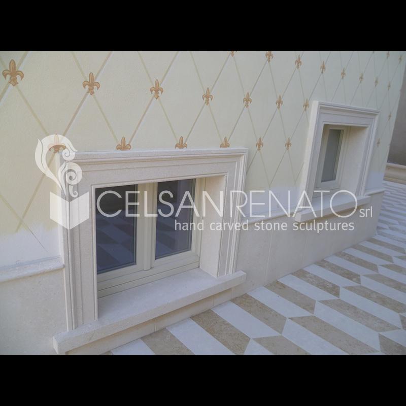 Realizzazione cornici per porte e finestre in pietra di - Porte e finestre vicenza ...
