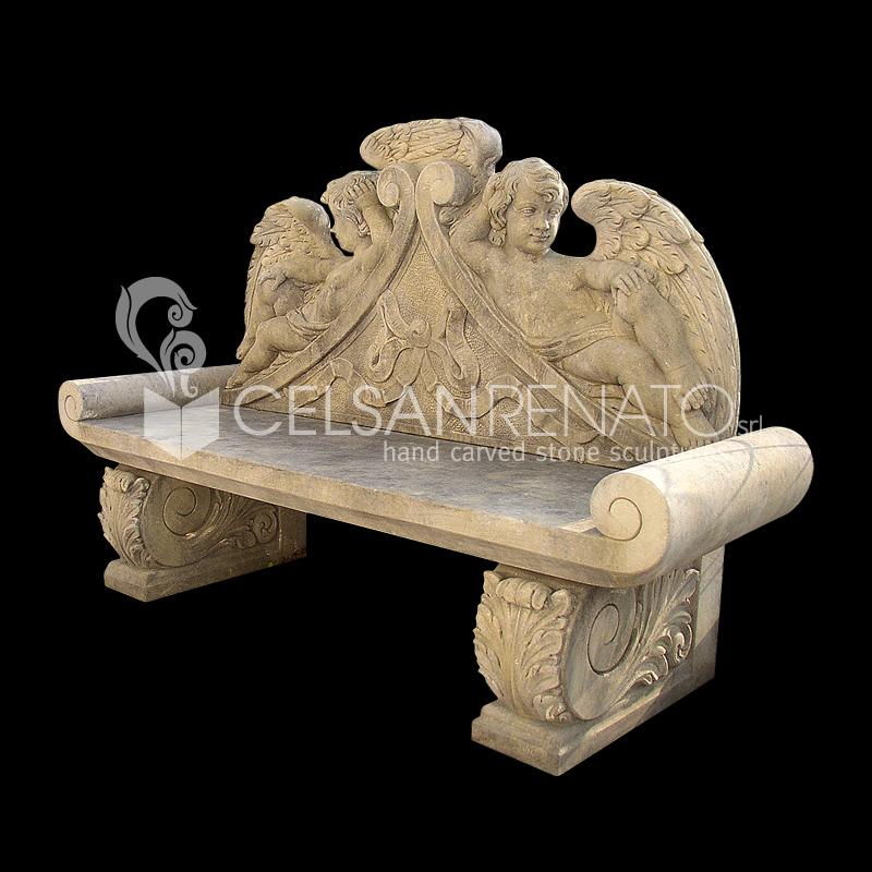 Panche In Pietra Da Giardino.Realizzazione Di Panche E Tavoli Da Giardino In Pietra Di Vicenza