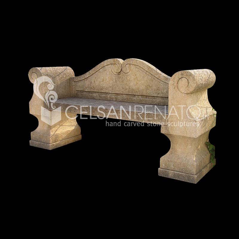 Panchine In Marmo Da Giardino.Realizzazione Di Panche E Tavoli Da Giardino In Pietra Di Vicenza