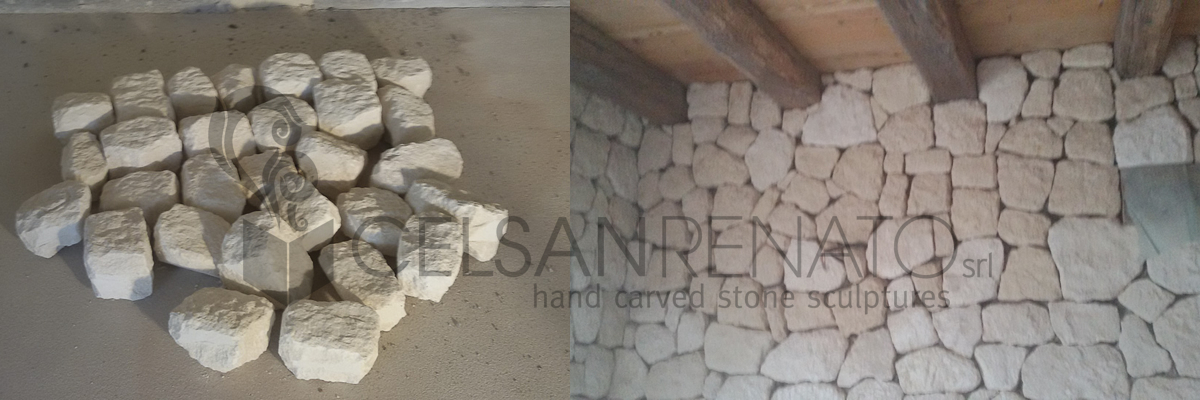 rivestimento in pietra, la posa