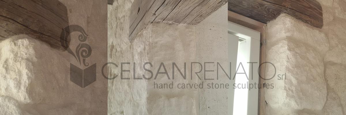 rivestimento in pietra, rifinitura
