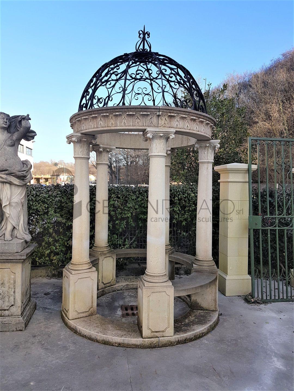 Gazebo per arredo giardino - Lavorazione pietra di Vicenza